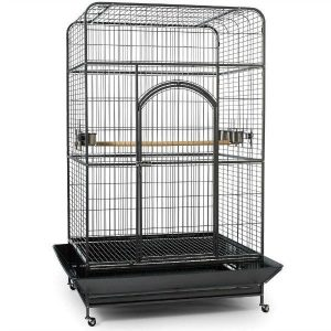 Flat Top Bird Cage for Large Parrots by Prevue 3157 Silverado Black