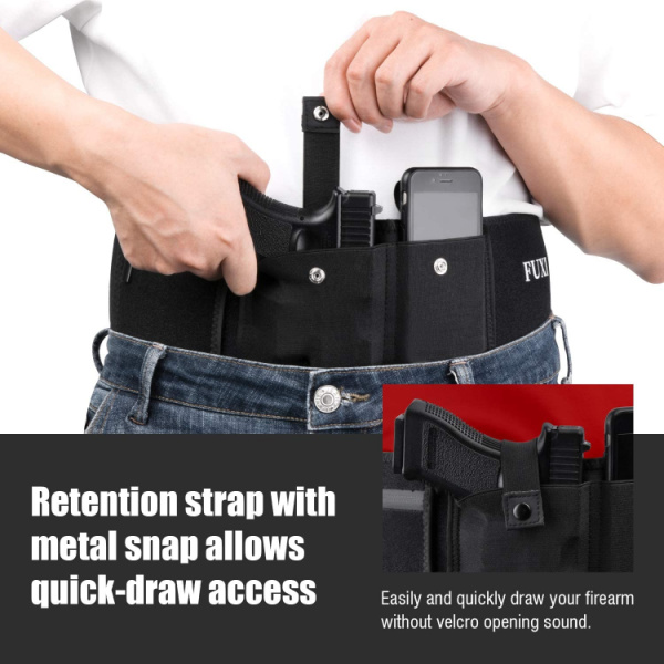 Fuxi Belly Band Holster for Men and Women- Glock 19 Holster for Concealed Carry